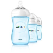 Kit Com 3 Philips Avent Natural - 260 ml (BLUE)