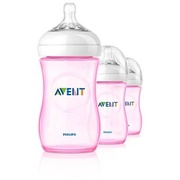 Kit Com 3 Philips Avent Natural - 260 ml (PINK)