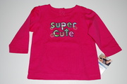 "Blusa Carters "" Super Cute""     9 meses"