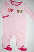 Body Atoalhado Pink Love - 3 meses