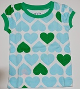 Camisetinha Carters Coracoes -  3 meses