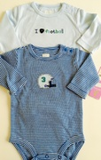 Kit 2 bodies Football - 3 meses
