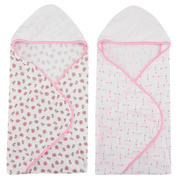 2 Toalhas Hooded - Pink